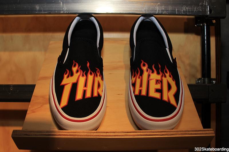 Slip on Vans x Thrasher Magazine