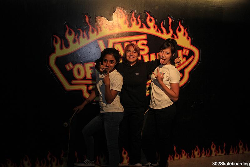 Las chicas del team de Vans México