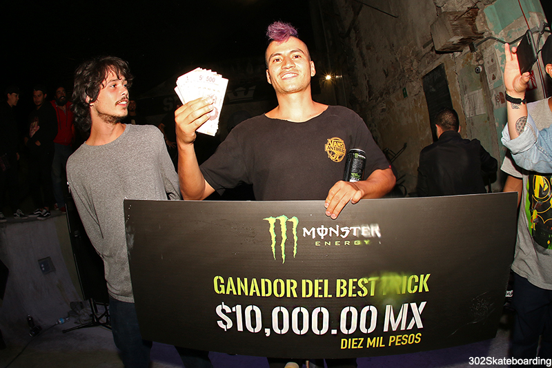 Cristan Huerta ganador best trick por Monster Energy