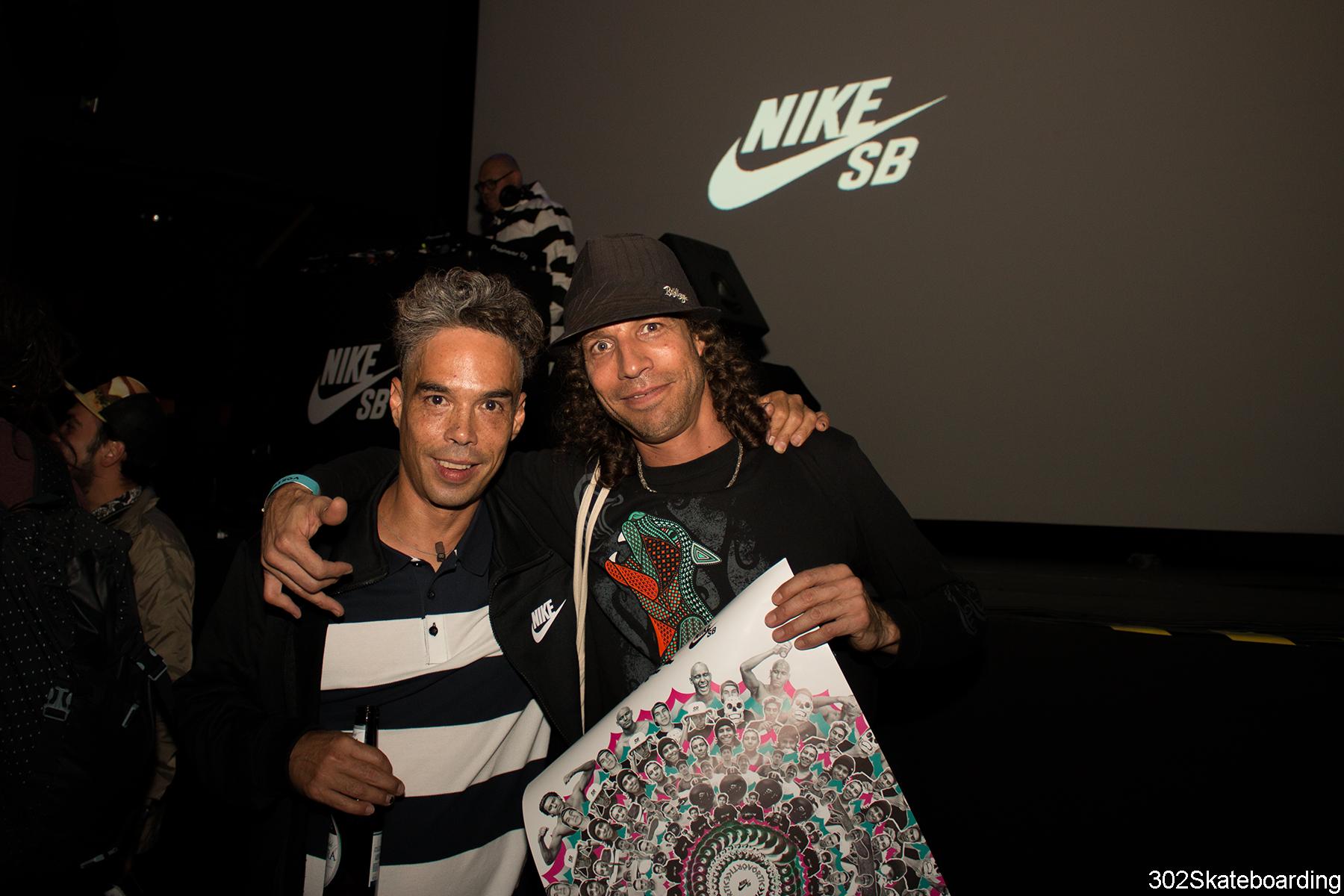 Alfredo Franco y su mentor en el skate
